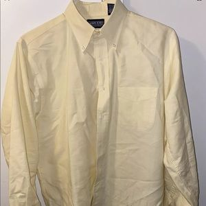 Vintage Lands End Yellow 16.5x32 Oxford Shirt